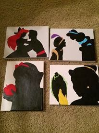 DIY Disney Silhouettes. Can't wait to have a little girl so I can make these :)