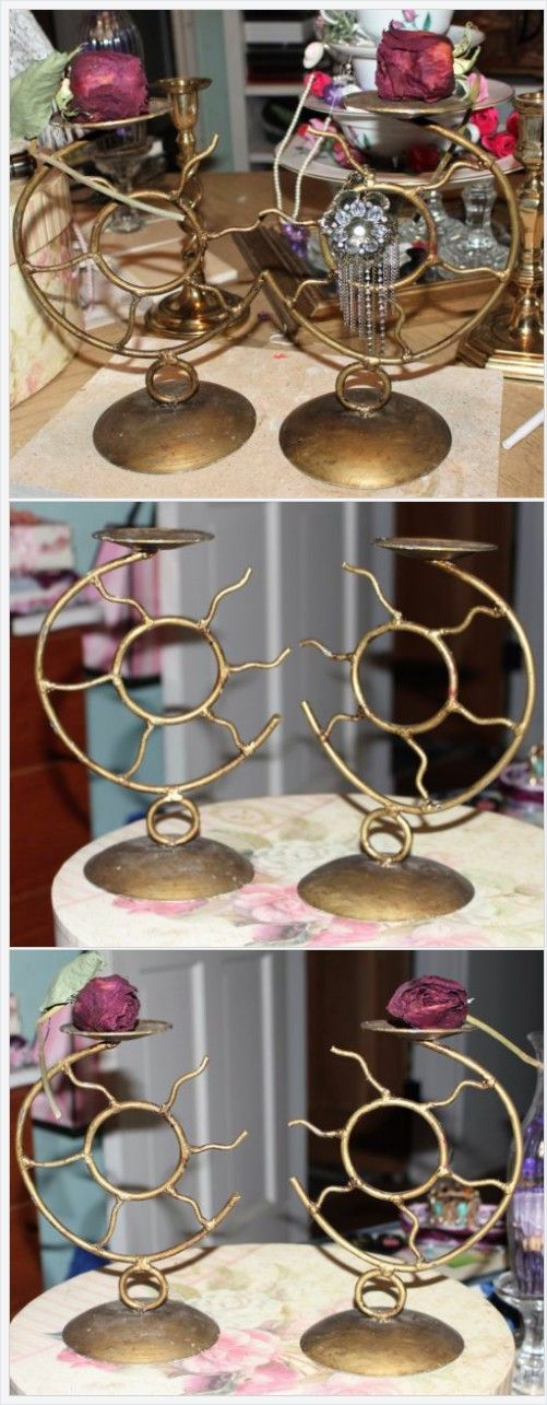 "Vintage Pair of Metal Sun Design Candle Holders 9""H  Vanity Jewelry Accessories  | eBay http://www.ebay.com/itm/Vintage-Pair-of-Metal-Sun-Design-Candle-Holders-9-H-Vanity-Jewelry-Accessories-/231906325686"