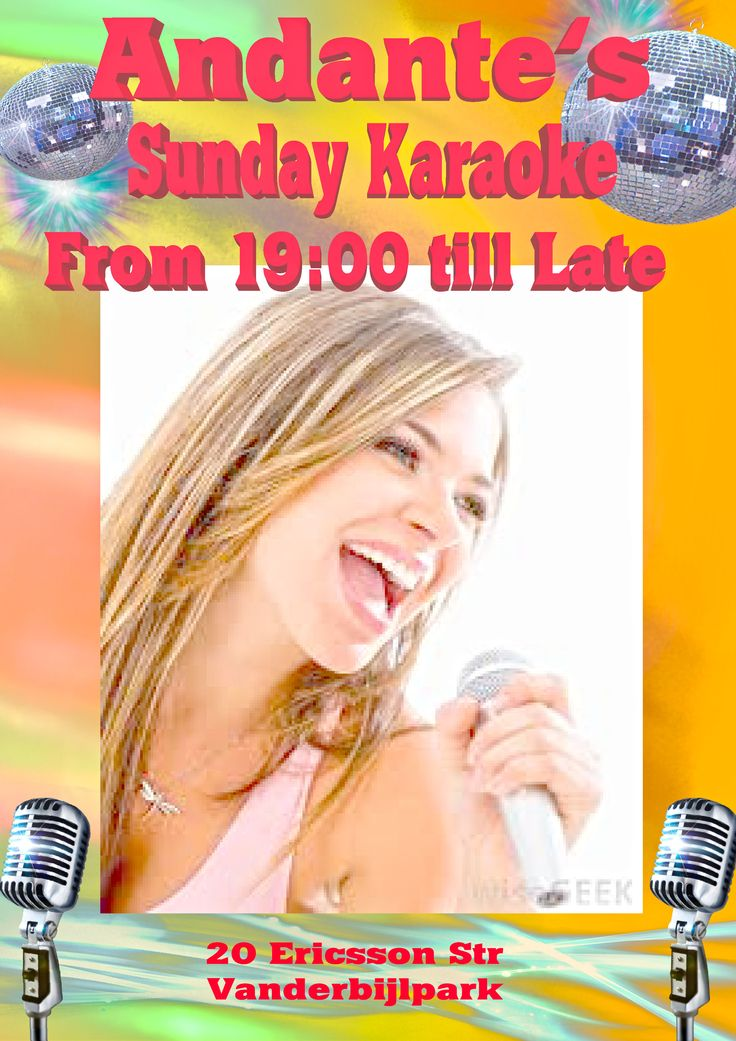 Karaoke Every Sunday at Andante's from 19:00