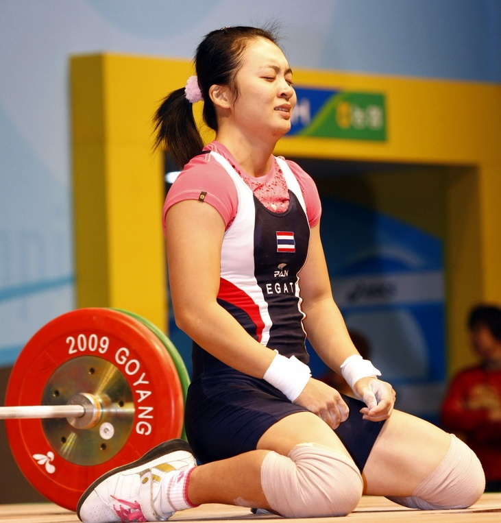 Prapawadee Jaroenrattanatarakoon of Thailand won the weightlifting gold medal in the women's 53 kilogram category during the 2008 olympics  Jaroenrattanatarakoon lifted a total of 221 kilograms, pulling off 95 kgs in the snatch and an Olympic high score of 126 kgs in the clean and jerk.