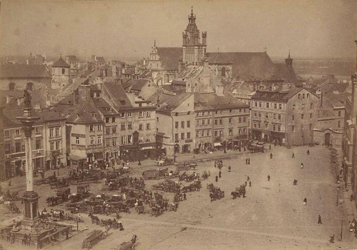 Plac Zamkowy, rok 1870