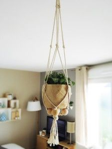 diy suspensions macram pour plantes home by marie home by marie pinterest macram. Black Bedroom Furniture Sets. Home Design Ideas