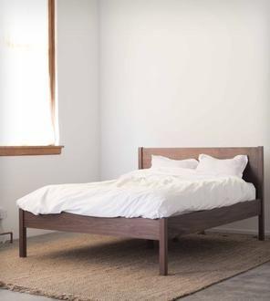 walnut queen bed frame u0026 headboard