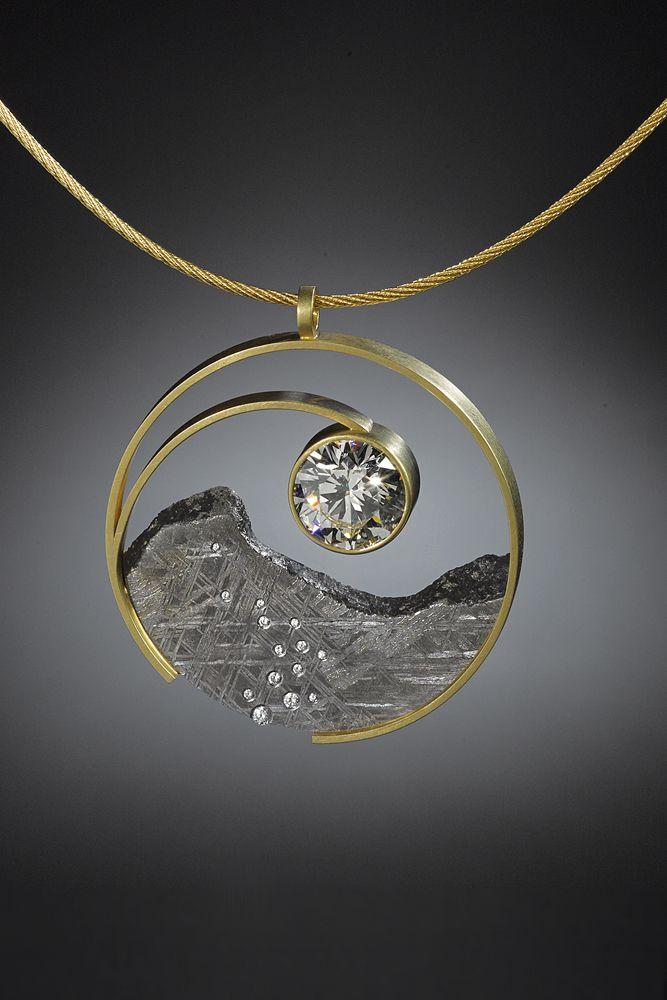 Diamond Yin Yang Pendant by Jacob Albee of Burlington, VT. 2015 NICHE Awards Finalist. #pendant