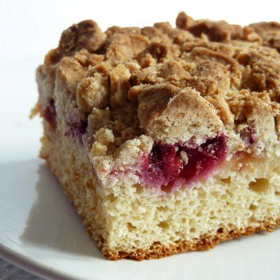 vegan Raspberry Crumb Cake