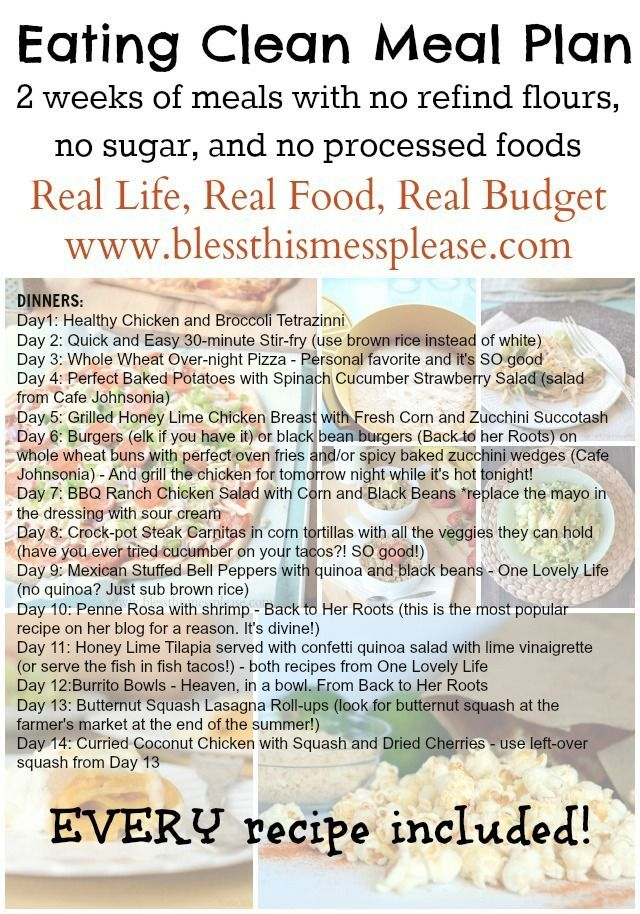 Eating Clean Meal Plan: Spring/Summer Menu - Bless This Mess.