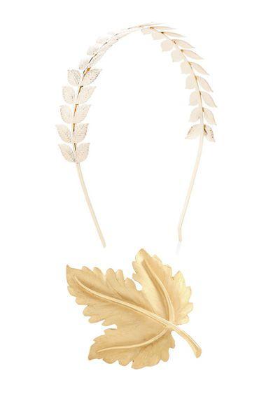 Goldblattschmuck fürs Haar