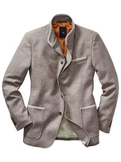 Drysuit-Sakko, mit 5% Kaschmir, starke Farbe: beige mottled, Slim Fit, von Doris Hartwich (€ 429,-).