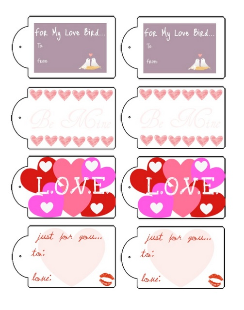 Free Printable Valentine Gift Tags — Crafthubs