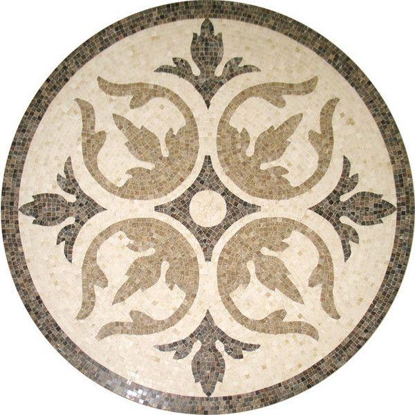 Mosaico de mármore da telha, medalhão de piso de padrões de teste padrão de flor de mármore mosaico medalhão chão, mesa de mosaico padrões ks-r3003