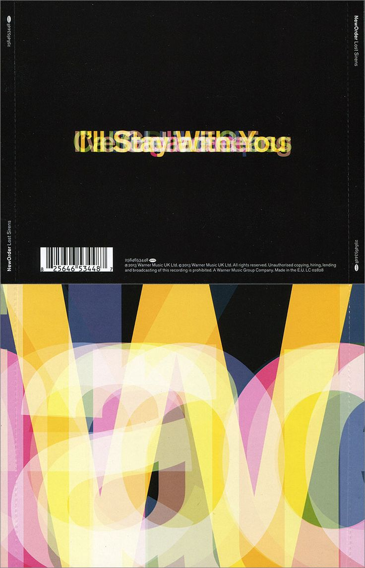 Sleeve designed by Peter Saville: Sleeves 2010-2014