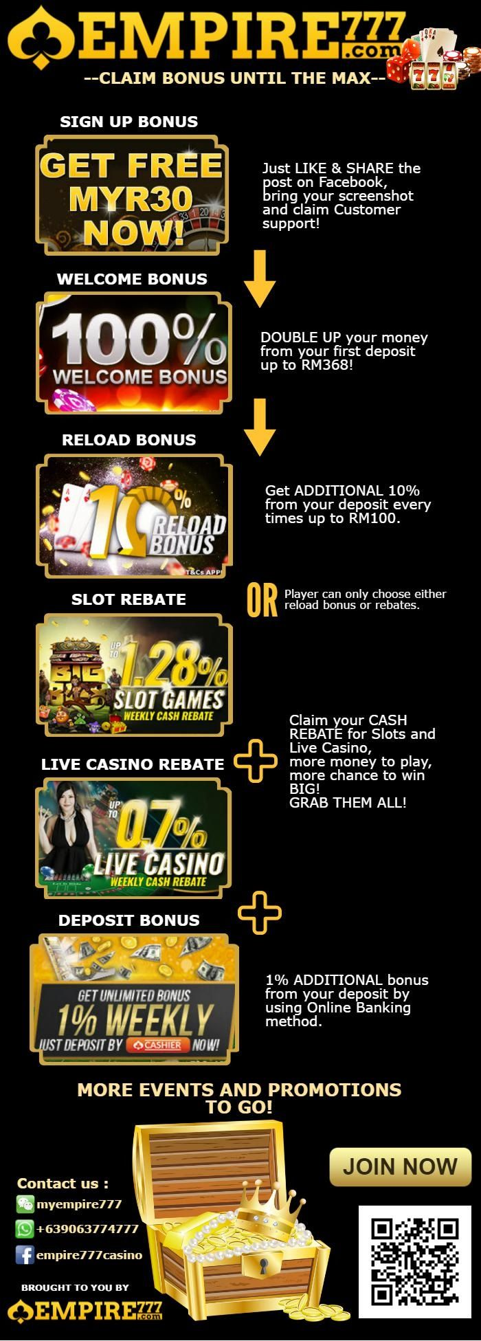 best casino signup offers