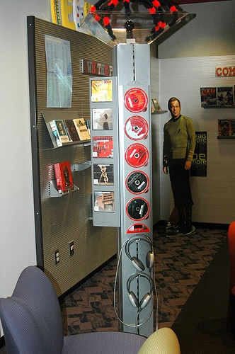 Listening station  Cool display tool