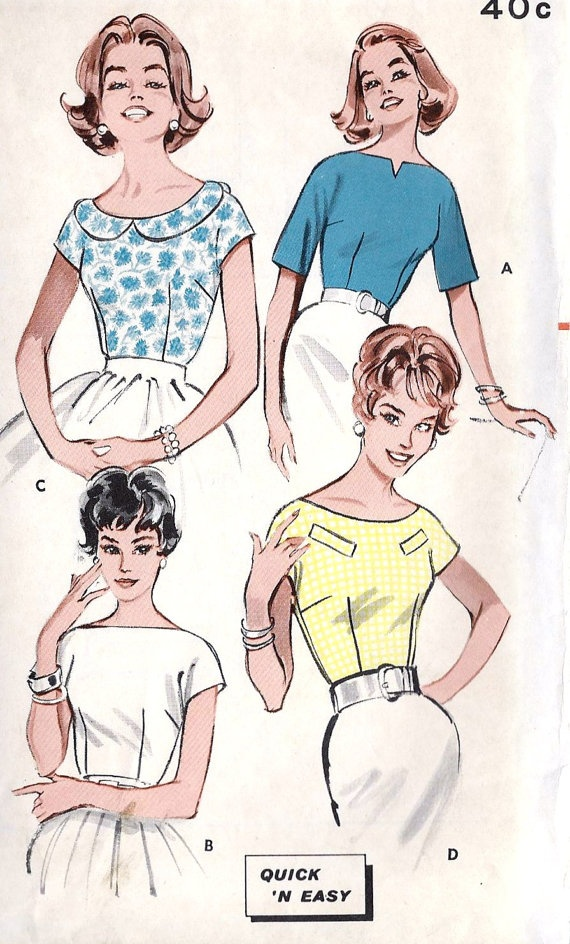 1960s Misses Blouse