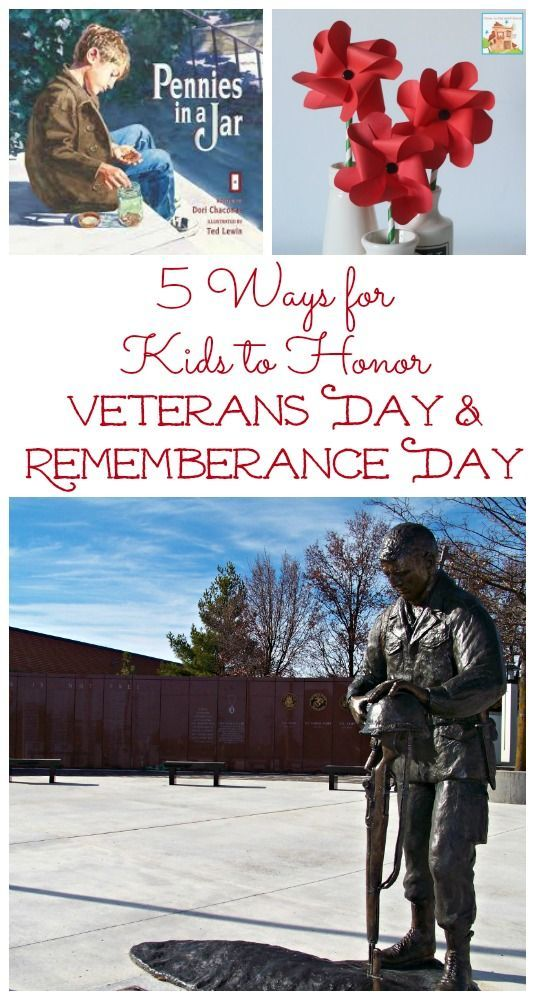 Books and activities that help kids to understand Veterans Day & Remembrance Day