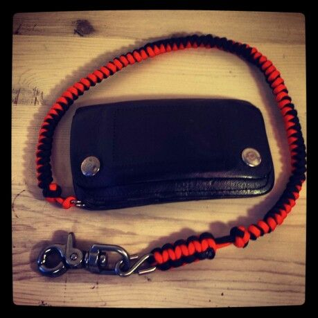 H d colors paracord wallet chain snake coil lanyard for How to make a paracord wallet chain