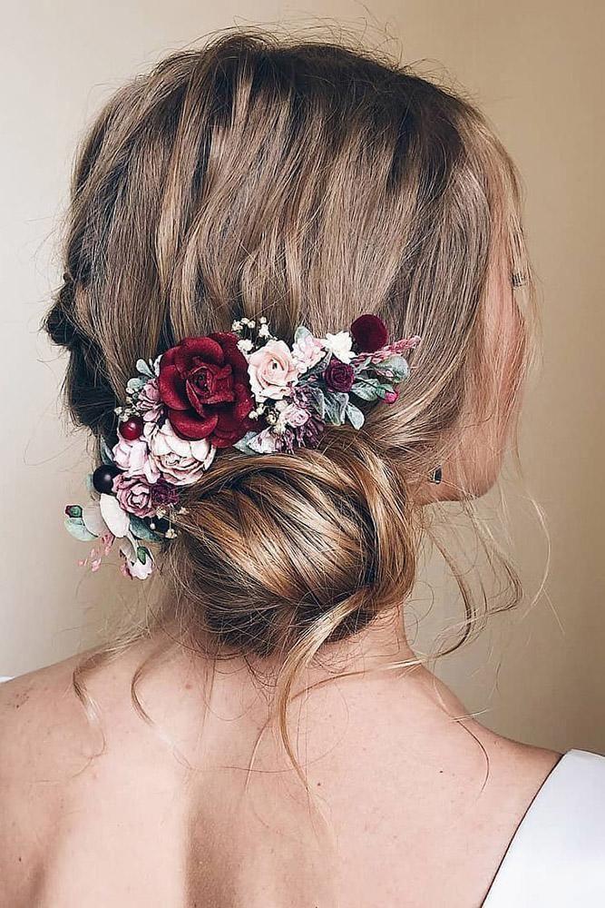 33 Wedding Hairstyles With Flowers Wedding Hair Flowers Flowers
