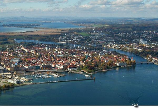 Konstanz and Kreuzlingen, bordering Germany and Switzerland