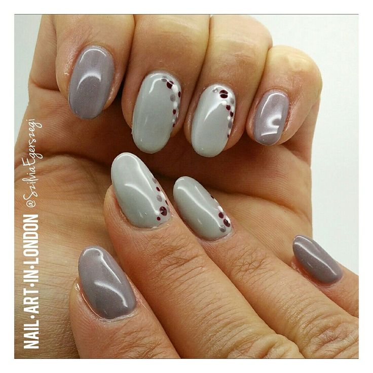 120 best own nail designs nailartinlondon images on pinterest nailartinlondon gel polish manicure with dots gelish grey prinsesfo Choice Image