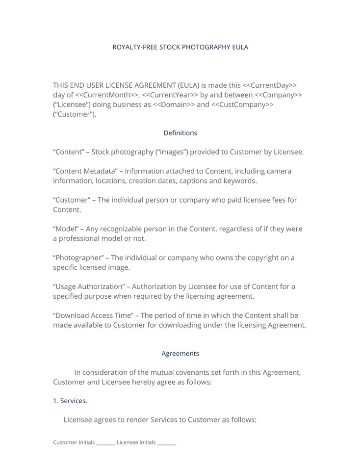 28 best Photography Service Product Contracts images on Pinterest - license agreement template
