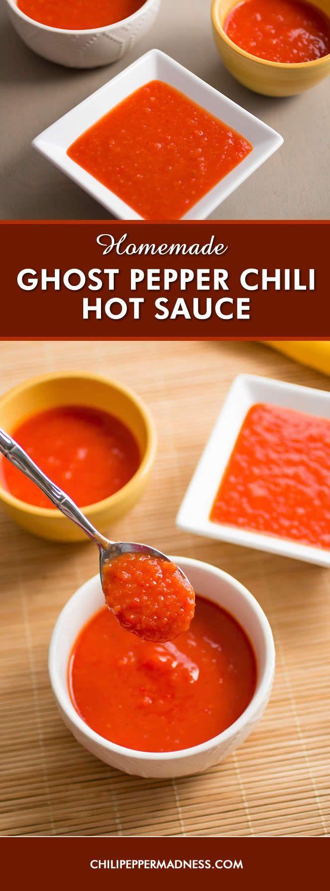 Homemade Ghost Pepper Chili Hot Sauce - Recipe
