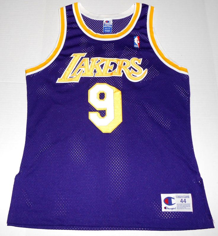 096c681fef4 ... Purple Stitched NBA Jersey Vintage NICK VAN EXEL Los Angeles LAKERS  Champion Jersey 9 Size 44 Large 90s ...