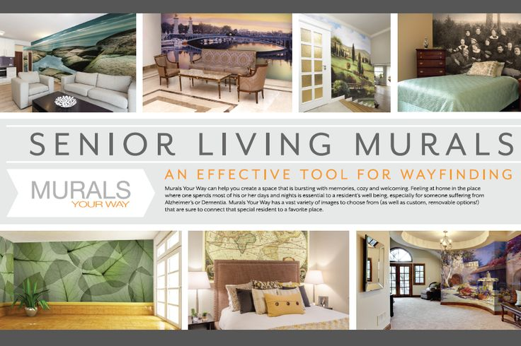Wall Murals for way finding in Senior Living facilities and nursing homes.