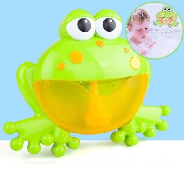 Baby Kid Frog Fram Maker Machine Bubble Bath Water Toy Music Bathtub Soap Shower