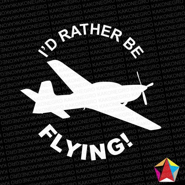 I D Rather Be Flying Airplane Sticker Add Your Name For Etsy In 2020 Ads Spirit Airlines In Memory Of Dad