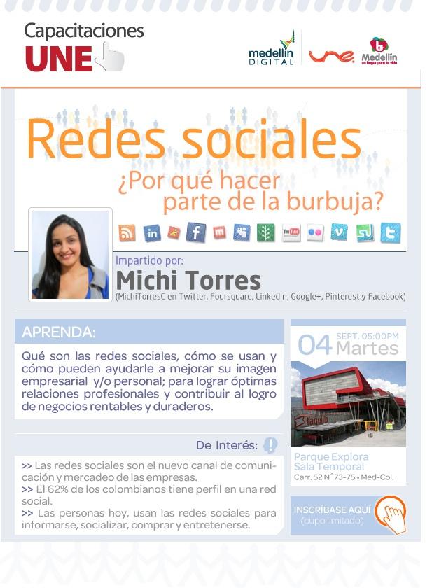 El próximo martes 4 de septiembre estaré en Parque Explora de Medellín  sensibilizando en la importancia de redes sociales... Inscripciones en www.culturaemedellin.gov.co