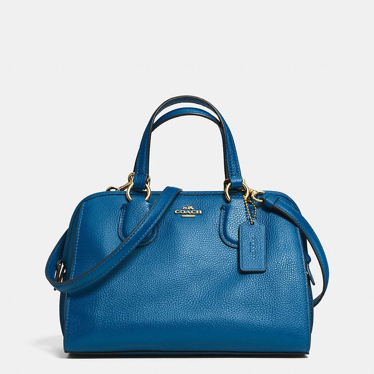 ... the Mini Nolita Satchel in polished pebble leather is an easy, compact  design. Carry the softly structured bag by its top handles or use ... 957fc7af40
