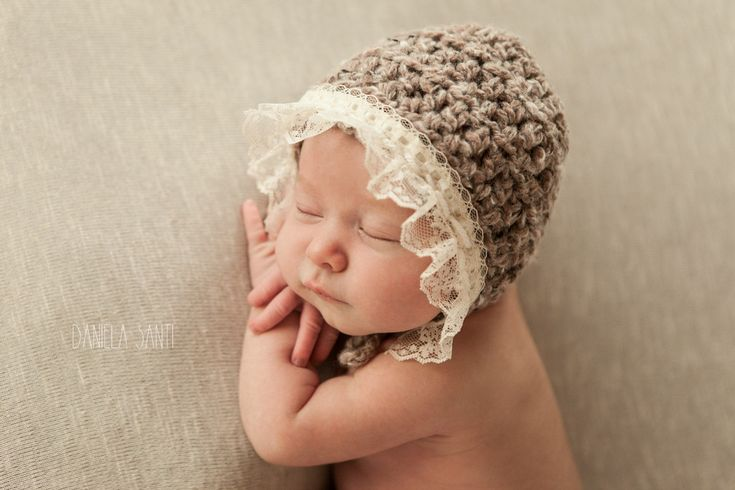Prairie Newborn Lace Bonnet Hat | Beautiful Photo Props