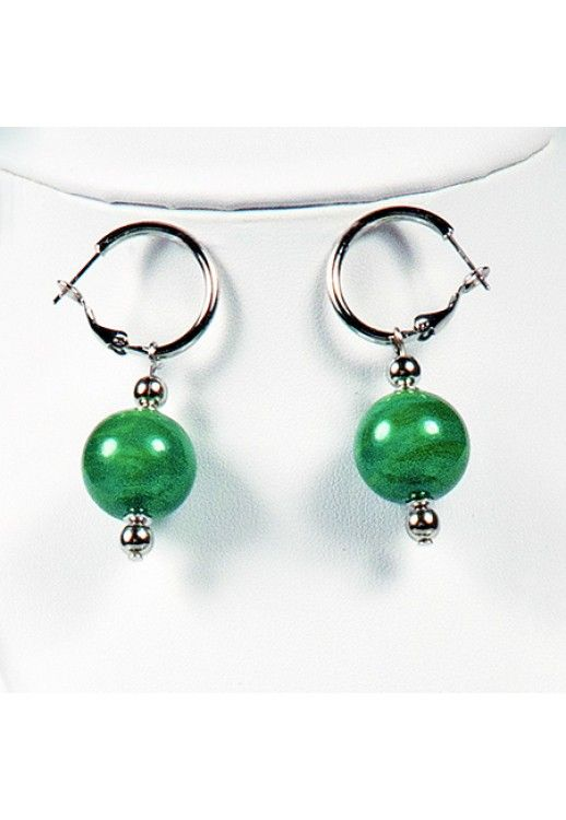 """Elisa"" #Murano #glass #earrings #jewelry #design #green #Muranolampstore #handcrafted https://www.muranolampstore.com/en/murano-glass-earrings-elisa"