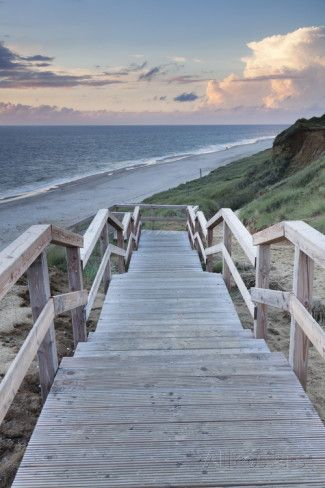 Red Cliff, Kampen, Sylt, North Frisian Islands, Nordfriesland, Schleswig Holstein, Germany, Europe Photographic Print by Markus Lange at AllPosters.com #Sylt #Germany