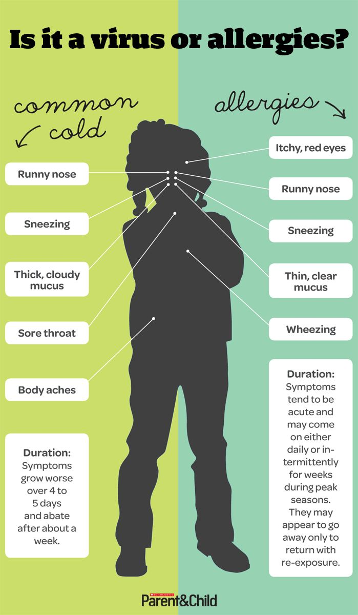 Their achoos are head-scratchingly similar. Use our chart to sniff out the difference between the two. #Kids #Allergies