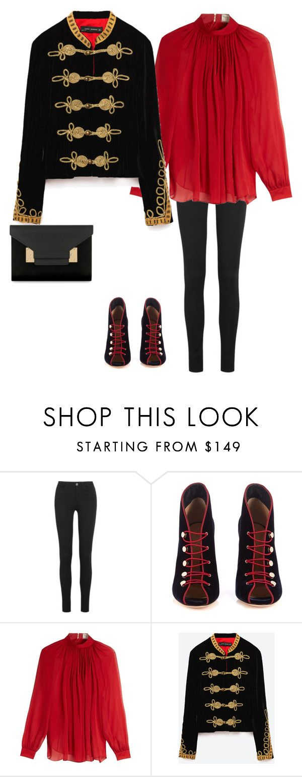 """Outfit skinny jeans #5"" by momwithsneakers ❤ liked on Polyvore featuring M.i.h Jeans, Gianvito Rossi, Maison Rabih Kayrouz, Sophie Hulme, skinnyjeans and polyvorestyle"