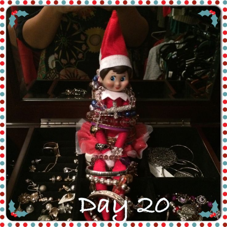 Twinkle toes wants to be a fashionable elf! She's trying on almost all of my jewellery!