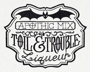 ApotheScary - Toil and Trouble | Urban Threads: Unique and Awesome Embroidery Designs