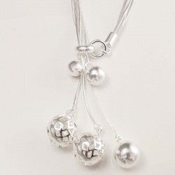 Silver Ball Necklace for Women #silver #jewellery