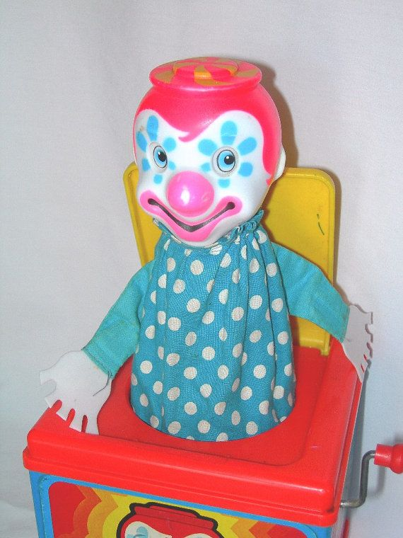 Mattel Vintage Toy 1970s Jack in the Box...I still have one of these, my kids think it's creepy...I agree...:-)