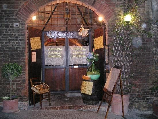 The restaurant 'La Taverna di San Giuseppe' in Siena, Italy serves excellent Italian dishes. It definitely deserves to be a 'bib gourmand' and has been in the Michelin guide almost every year since 2007.