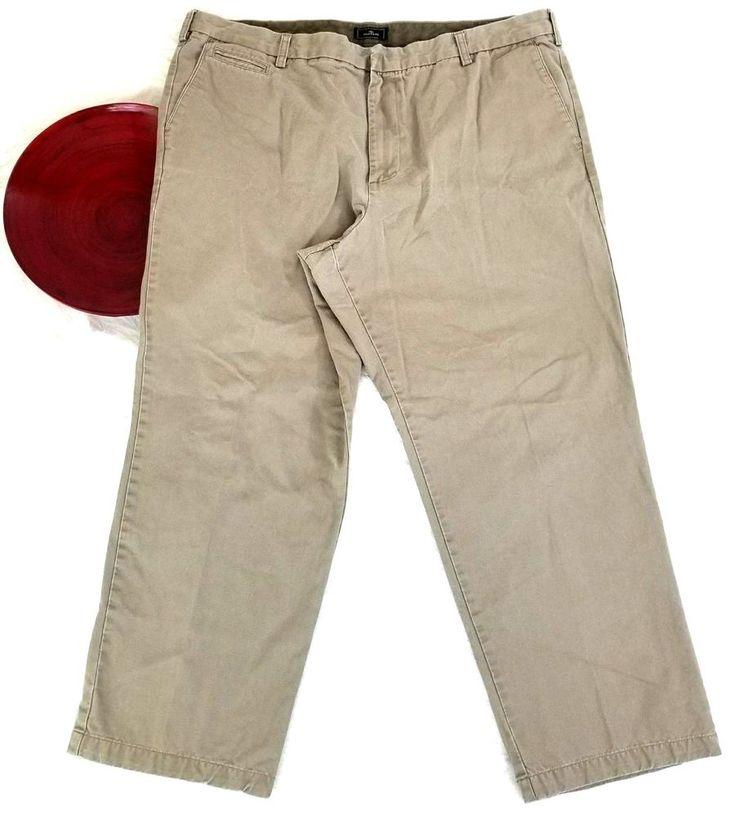 Dockers Mens Pants Size 42x30 Beige Khaki Chino Relaxed Fit Slacks Flat o935 #DOCKERS #KhakisChinosRelaxed