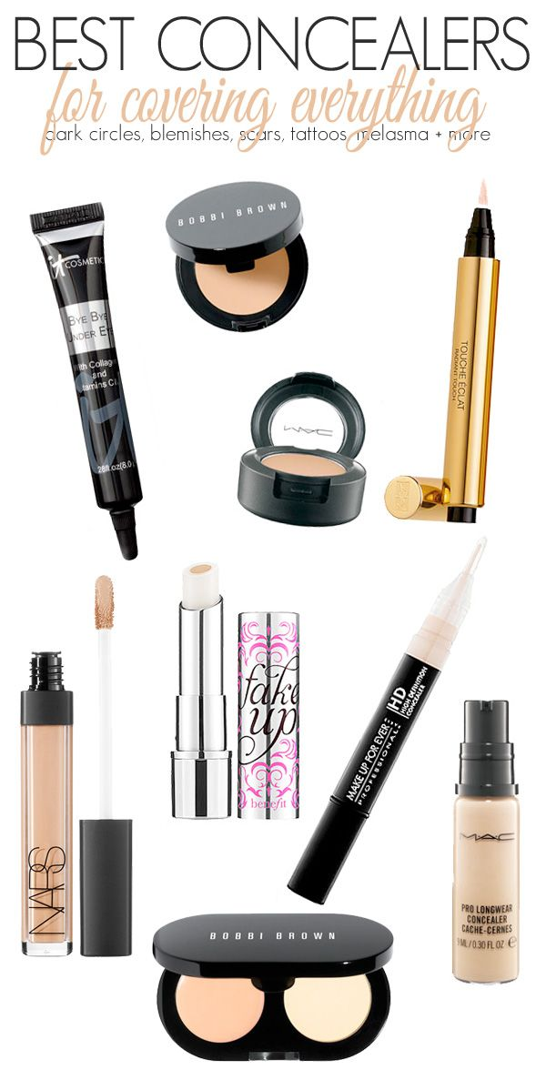 The top makeup concealers that cover under-eye circles, dark spots, hyperpigmentation and more.