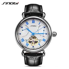 Men's Luxury Brand Self Wind Mechanical Watches Automatic Sapphire Glass Stainless steel Tourbillon Leather Wristwatch Relojes(China (Mainland))
