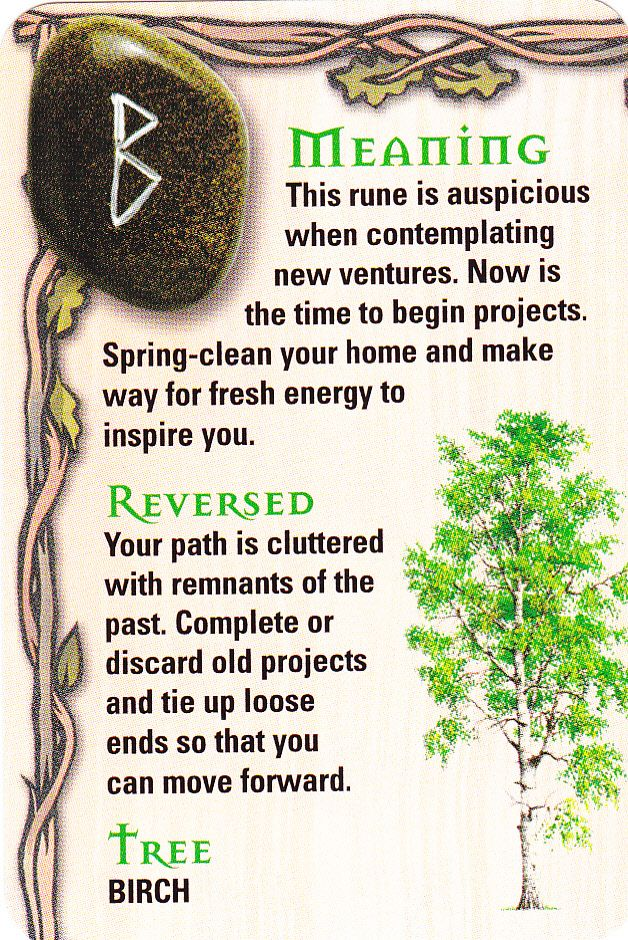 Rune - Beorc - B - Birch - Tree