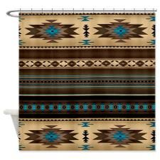 Southwestern Style Shower Curtain for