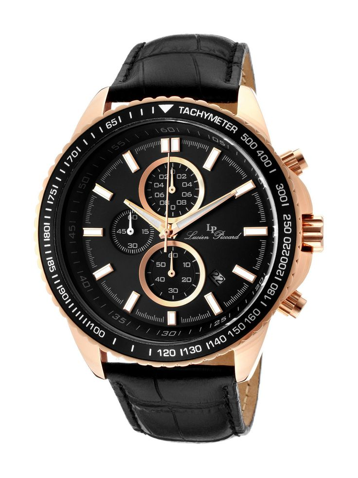 Lucien Piccard Men's Cartagena IP Stainless Steel Case Watch  NZ$137.00 Gilt