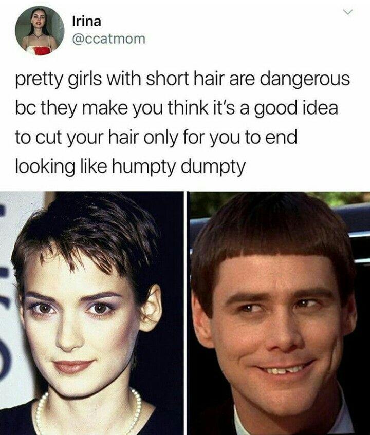 Girls Memes Girl Short Hair Hair Meme Short Hair Styles