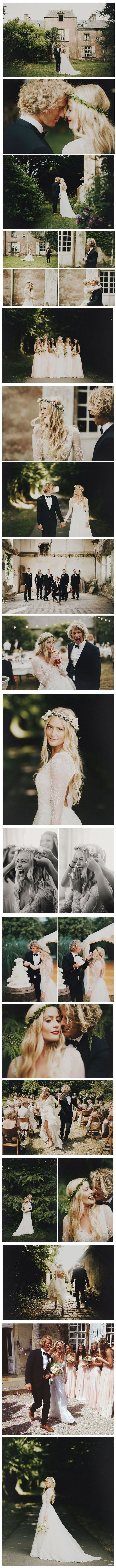 Laid Back French Château Wedding: Hildegunn + Samuel This is so beautiful.