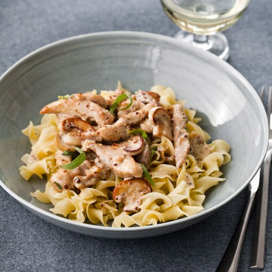 ... classic French pan sauce (mustard, tarragon, white wine and cream) for
